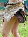 Amazon Leather and Fur Armor Skirt