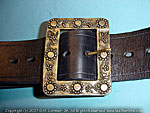 Custom buckle baldric bandolier belt pirate