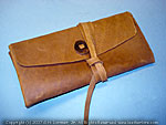 Leather document case wallet folder pirate letter of marque